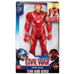 HASBRO AVENGERS PERSONAGGIO IRON MAN ELETTRONICO PARLANTE 30 CM CIVIL WAR